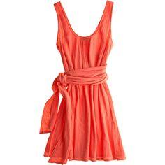 I freaking adore this dress!! CALYPSO St. Barth Melita Cotton Sash Dress found on Polyvore $165