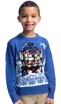 R2D2 Boys Star Wars Christmas Sweater