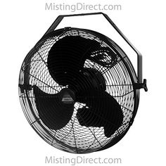 Misting Fans - Misting Direct Black 18 Inch IndoorOutdoor WallCeilingPole Mount Wet Location Fan >>> You can get more details by clicking on the image. (This is an Amazon affiliate link)