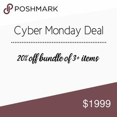 4082c4928232 ❄️Cyber Monday Exclusive❄ Bundle three or more items and receive a discount  discount. Checkout as normal. Cyber Monday Sale automatically applied at ...