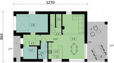 Projekt domu KA33 115,30 m² - koszt budowy - EXTRADOM Floor Plans, House, Home Decor, Trendy Tree, Decoration Home, Home, Room Decor, Home Interior Design, Homes