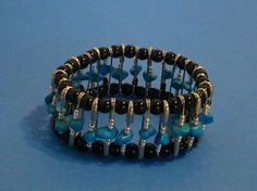 Another bracelet using safety pins.