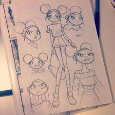 regram @anna_cattish  #sketching #mimithegirl