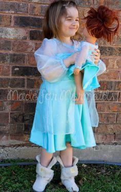 "Elsa Frozen DOLLY Dress 15"" or 18"" doll PDF Pattern instant download"