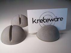 concrete place marker menu holder reserve table card by kreteware, $4.95