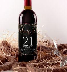 Mini Wine Bottles, Wine Bottle Labels, Web Browser, 21st Birthday, Wifi Password Printable, Wine Bottle Centerpieces, Custom Wine Labels, Champagne Label, Wine Label Design