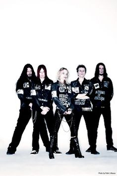 Arch Enemy - Shirts and Angela's pants were designed and made by Nekrotic. www.nekrotic.com