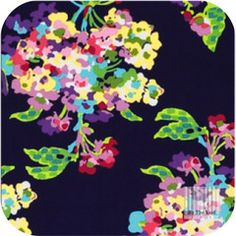 Amy Butler - Water Bouquet in Midnight Amy Butler, Bouquet, Water, Fabrics, Gripe Water, Tejidos, Bouquet Of Flowers, Bouquets, Cloths
