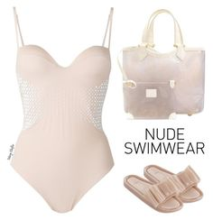 Including Every Shade of Nude by mcheffer on Polyvore featuring polyvore, fashion, style, La Perla, Melissa, Louis Vuitton, clothing and nudeswimwear