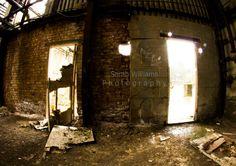 Fisheye lens in an abandoned factory.