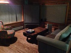 Family room of our cabin