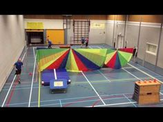 Blindtrefbal met trampoline - YouTube