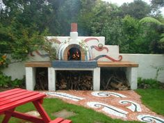 courtyard with Pizza Oven