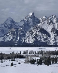 ✯ Snake River Overlook In Winter - Grand Tetons, Wyoming