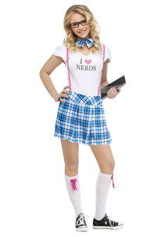 girls nerd costume | Teen I love Nerds Costume