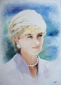 Portrait of Lady Diana by ARTMARIA on Stars Portraits, the biggest online gallery for celebrity portraits. Prince William And Harry, William Kate, Prince Charles, Grand Prince, Mario Testino, Royal Princess, Princess Of Wales, Caricatures, Funeral