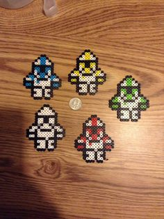 Star Wars clone trooper Perler set of 5 by Leekscreations on Etsy
