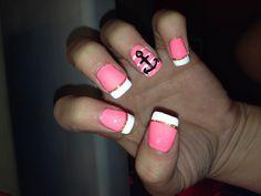 Anchor nails! Super cute