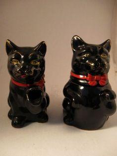 Vintage 1950 Redware Shafford Black Cat Cream Sugar Wales China Made in Japan   eBay: