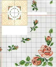 This pin was discovered by ord angliez isi вышивка крестом, Cross Stitch Rose, Cross Stitch Borders, Cross Stitch Flowers, Cross Stitch Charts, Cross Stitch Designs, Cross Stitch Embroidery, Cross Stitch Patterns, Small Rose, Bead Loom Patterns