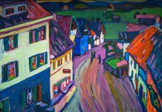Wassily Kandinsky - Murnau - View from the Window of the Briesbräu, 1908 at Lenbachhaus Art Gallery Munich Germany