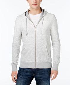 Michael Kors Men's Heathered Zip-Front Hoodie