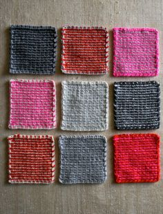 A reversible slip stitch -- instructions from the purl bee.