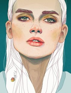Art Ed Central loves this Amazing digital work, 'Darya' by Nadiia Cherkasova