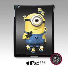 Cute Kawaii Minion Despicable Me iPad 2 3 4 Mini Cover Case Cute Minions