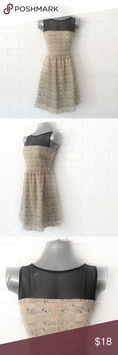 🌟30% Bundles🌟Love Ady Tweed Fit n Flare Dress •Very good condition •Crew neck •Sleeveless •Mesh shoulder detail •Side zipper •Allover tweed w multicolor speckles •Ivory/ballet pink (pink is very very light) •Lined •Polyester/cotton/spandex •XS  •NO TRADE/HOLD  •YES BUNDLES   •PLEASE ASK QUESTIONS & READ DESCRIPTIONS. Measurements and sizing recommendations are for guidance purposes only. I cannot guarantee fit❗️ Love Ady Dresses Mini