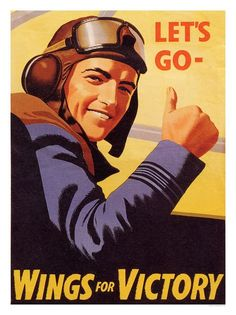 LET'S GO WINGS FOR VICTORY POSTER - Posters - Prints/Cards/Photos - RAF Royal Air Force Museum Gift Shop