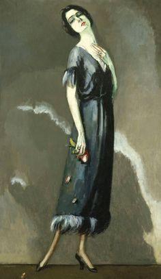 Kees van Dongen Portrait de Madame Maria Ricotti, oil on canvas, City of Paris' Museum of Modern Art. Harlem Renaissance, Henri Matisse, Art Fauvisme, Maurice De Vlaminck, Raoul Dufy, Paris Ville, Dutch Painters, Dutch Artists, Andre Derain