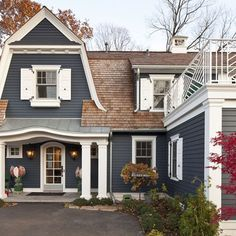 front door colors for grey house with brown roof google search