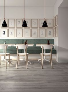Floor tile / porcelain stoneware / antibacterial / wood effect - NORTH CAPE - Panaria Ceramica