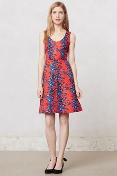 Blushing Delphinium Dress-Anthropologie