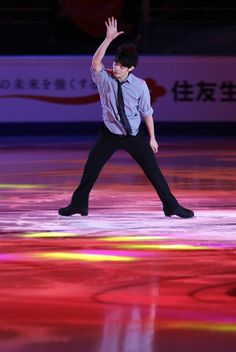 MOSCOW, RUSSIA - NOVEMBER 011: Japan's Takahiko Kozuka during the gala exhibition at the Rostelecom Cup ISU Grand Prix of Figure Skating 2012 at the Megasport Sports Center on November 11, 2012 in Moscow, Russia.