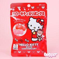 Kabaya Hello Kitty Ribbon Gummy Candy Japanese Kit Kat, Japanese Candy, Japanese Snacks, Japanese Sweets, Japanese Food, Japanese Cartoon Characters, Kawaii Dessert, Cute Candy, Kawaii Stationery