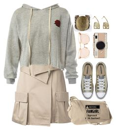 """""""Fangirl"""" by alynncameron ❤ liked on Polyvore featuring Monse, Sans Souci, Kate Spade, Linda Farrow and MANGO"""
