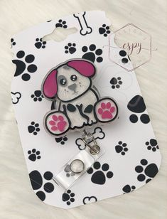Excited to share this item from my #etsy shop: Puppy dog badge reel/veterinarian/dog lover Glitter Tumblr, Badge Reel, Dogs And Puppies, Dog Lovers, Shapes, How To Make, Etsy Shop, Color, Business