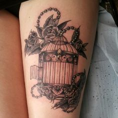 vintage birdcage tattoo - Google Search
