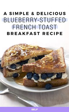 This version of that breakfast classic is totally decadent and less than 400 calories: Stuffed with fresh blueberries and an indulgent vanilla-Greek yogurt filling, it will definitely satisfy your sweet tooth. Plus, it's seriously fancy and will impress the heck out of all your brunch besties.