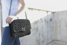Camadello Black Crochet Bag 💘