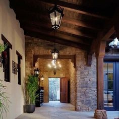 Mediterranean Home Design, Pictures, Remodel, Decor and Ideas - page 10 - cool walkway Spanish Style Homes, Spanish House, Spanish Colonial, Spanish Exterior, Outdoor Wood Flooring, Stone Flooring, Porches, Houses Architecture, Casa Patio