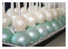 Sea Shell Cake pops by spottydog on Cake Central