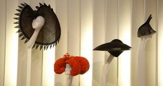 Designs by Philip Treacy. Selected from the personal collection of the late British patron of fashion and art (Photo by Peter Macdiarmid/Get...