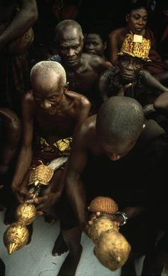 "Africa | "" Ashanti elders"" Ghana.  1979 