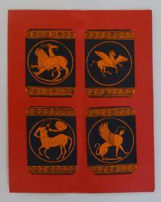 #ACEO creature mitiche. #Sfinge #Chimera #Pegaso  #Centauro