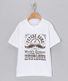 Take a look at this White 'Mustache' Tee - Infant & Boys on zulily today!
