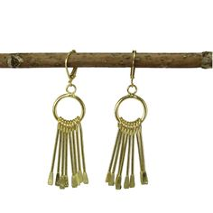 Brass Chime Earrings @worldfinds