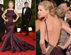Taylor Swift dress by Donna Karan Atelier and shoes René Caovilla on Golden Globes 2013